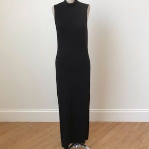 Naven fitted log black dress